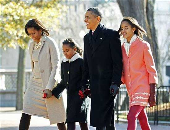 Obama Family Pretending To Go Church
